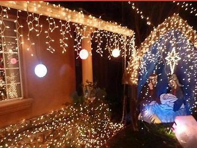 10M 100LED Warm White String Fairy Wedding Light Lamp Xmas Party Christmas Decor