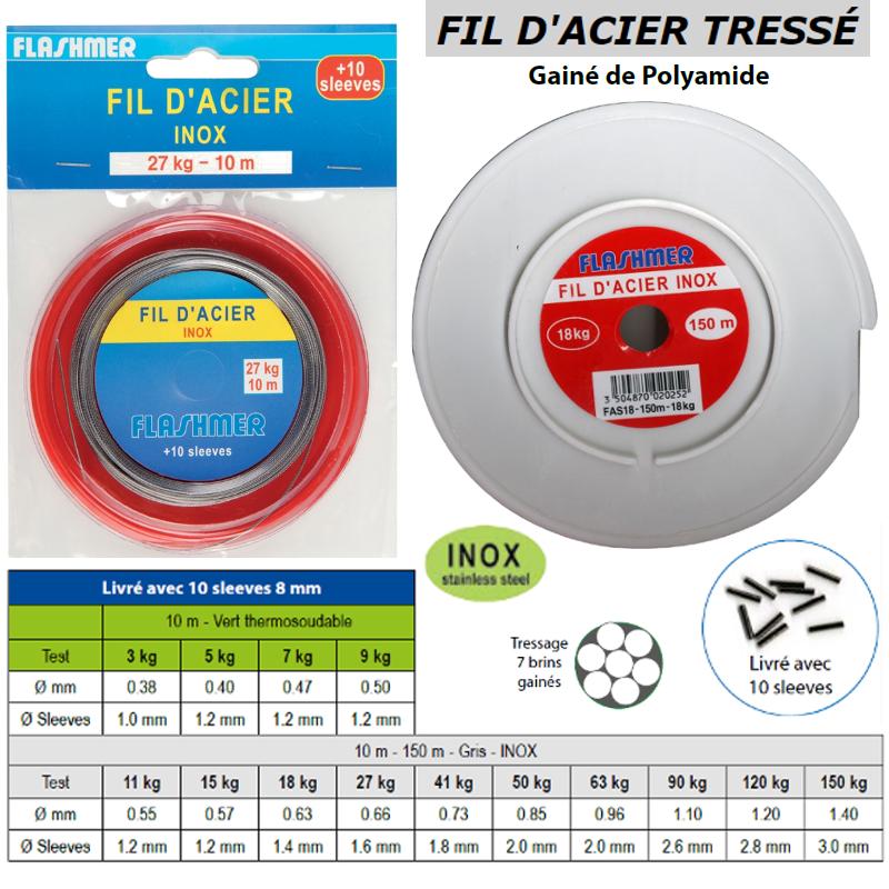 Draht Stahl geflochten FLASHMER zum Angeln   wire für für für Fischerei neu 36c6c5