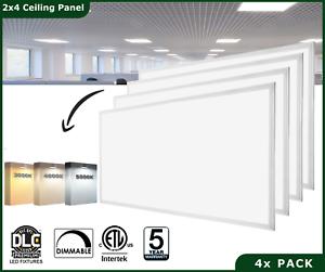 Details About 2x4 Ft 48w Each Drop Ceiling Flat Led Light Panel Recessed Edge Lit Troffer