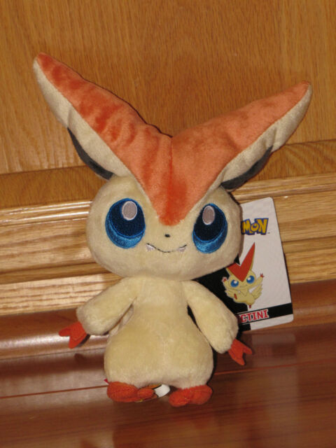 "47438-18/"" Victini Pokemon Best Wishes Black And White Giant Head Plush"