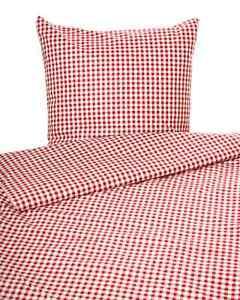 landhaus bettw sche z chen karo vichy baumwolle rot wei ebay. Black Bedroom Furniture Sets. Home Design Ideas