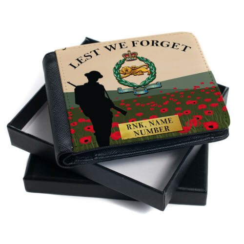 Personalised Military Wallet Bi Fold Coin Card Holder Remembrance Official Gift