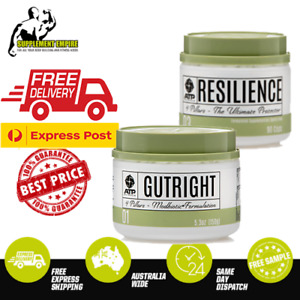 ATP Science GUTRIGHT and RESILIENCE Supplement Stomach Gut Health Modbiotic