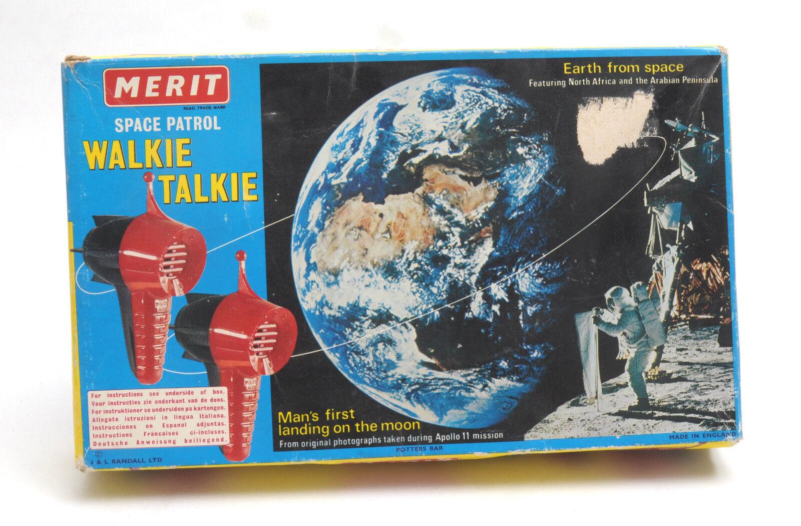 Vintage Merit (England) Plastic Space Patrol Walkie Talkie Set  BOXED