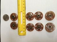 Designer Sew-on Big Snaps 28mm (1-1/8)10 Sets Camel Horn Effect With Anti Brass