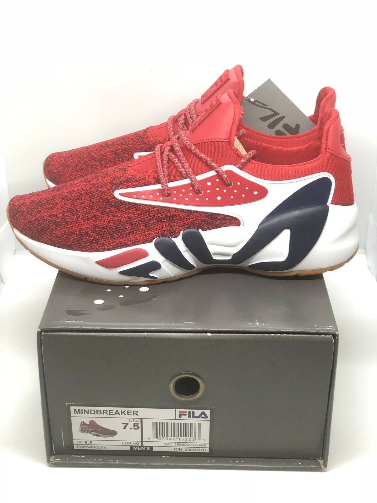 Mens Fila MINDBREAKER Classic Retro Casual Casual Casual Athletic Running scarpe NIB Dimensione 7.5 eb202f