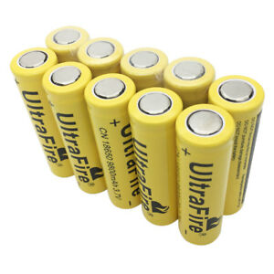 10pcs-18650-Batterie-9800mAh-3-7V-Rechargeable-Li-ion-Battery-Flat-Top-for-Torch