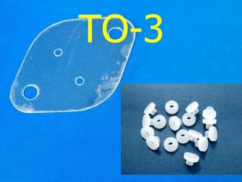 10 Sets Mica Sheets TO-3 29x42mm /& Nylon Bushings Insulator Transistor Heat Sink