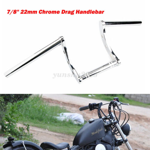 7//8/'/' Motorcycle Handlebar Drag Z-Bars Heavy Duty Bar For Bobber Triumph Chopper