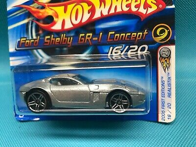 Silver Version 2005 Hot Wheels First Edition Ford Shelby GR-1 Concept 16//20