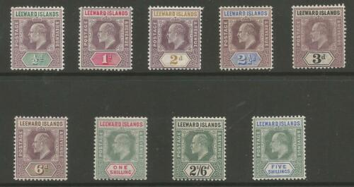 LEEWARD IS SG2028 THE 1902 EVII SET OF 9 MOUNTED MINT CAT 120