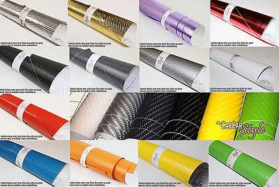 4D GLOSS【AIR Free Carbon Fibre Vinyl】Wrap Textured for car & home (real look)