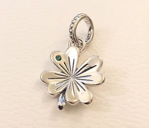 Details about Pandora Shine Lucky Four-Leaf Clover, Pendant #397965NAG  +FREE Gift Box +Tag