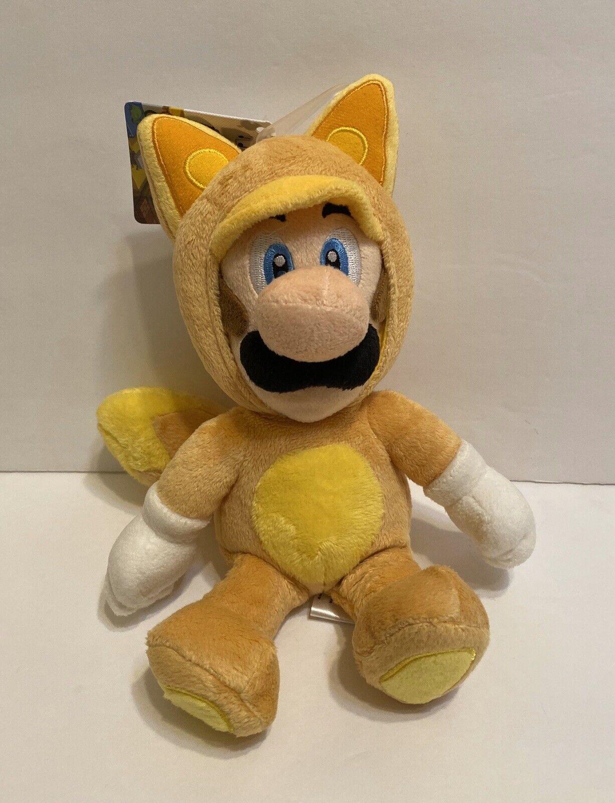 "REAL 1272 Little Buddy  Super Mario Kitsune Fox Luigi Stuffed Plush 9/"""