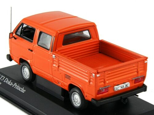 Scale model 1//43 Volkswagen T3 DOKA-PRITSCHE ORANGE 1983
