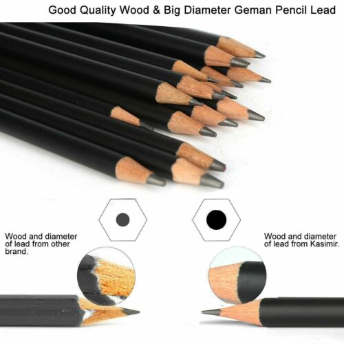Professional Sketching Pencils Mixed Grade Sketch Graphite Pencil Set 29 Tin Box