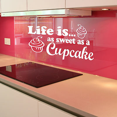 Life Sweet As CupCake Wall Sticker Art Decor Mural Graphic Kitchen Cooking Cake