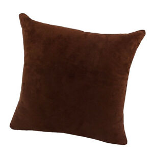 Details About Velvet Throw Pillow Cover Cushion Sham Soft Cases Chocolate 45x45cm