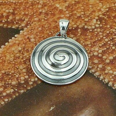 STERLING SILVER  SPIRAL PENDANT SOLID .925 /NEW JEWELLERY