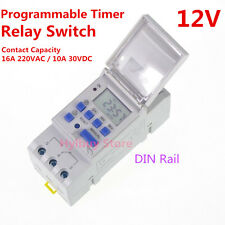 LCD Digital display DC 12V 16A Programmable Counter TIME TIMER RELAY SWITCH