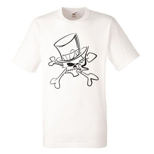Slash Skull White Herren T-shirt Men Rock Band Tee Shirt
