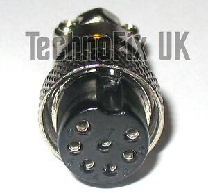 7 Pin Microphone Connecteur De Verrouillage Plug Mike (gx16-7) Pour De Nombreux Populaire Radios-afficher Le Titre D'origine