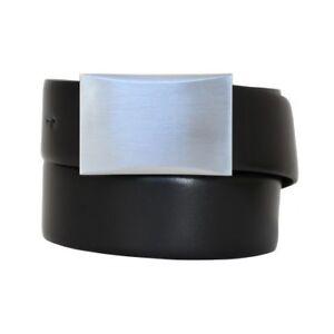 Ceinture cuir avec ceinturons joins 3,5 cm Jeans marqué Gesteppt Noir Pantalon