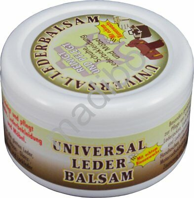 Universal Leder Balsam reinigt pflegt Schuhe Lederbekleidung Möbel 250 ml