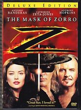 The Mask of Zorro (Deluxe Edition) Antonio Banderas Anthony Hopkins Zeta-Jones