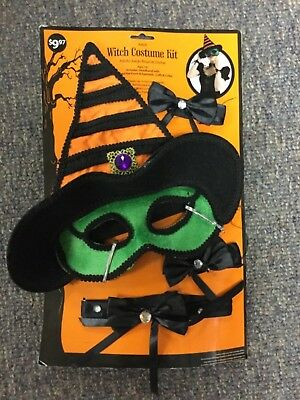 Witch Costume Kit Mask Cuffs And Collar Ages 14 Plus Ebay