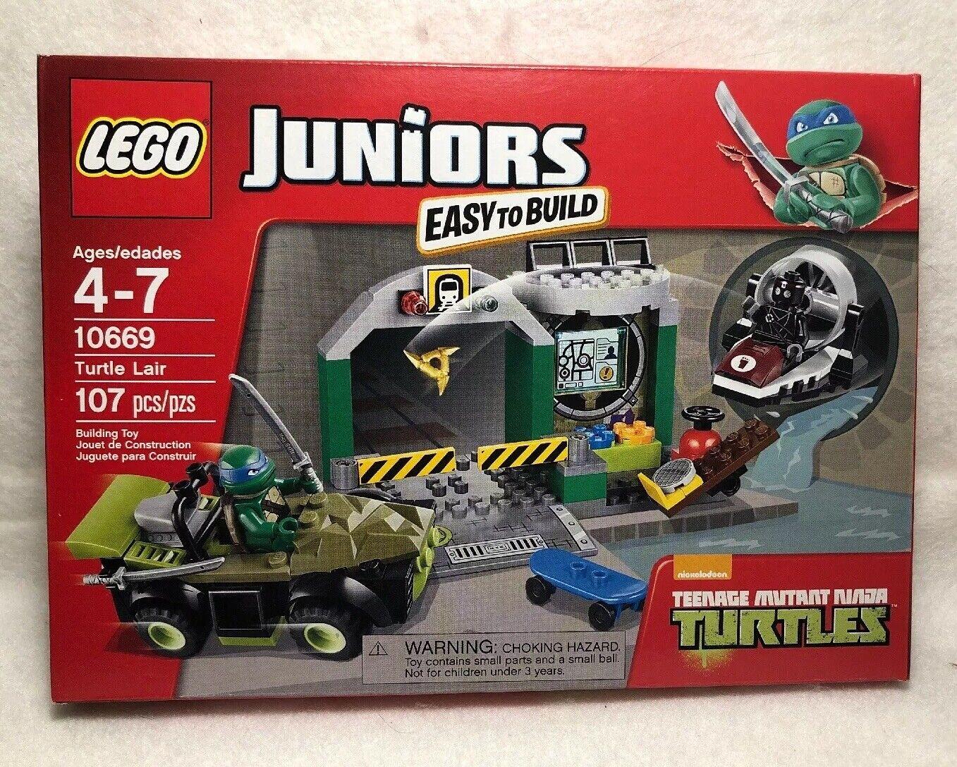 Juego De Lego 10669  2014 Lego Juniors Tmnt Tortuga guarida MIB de 107 piezas de
