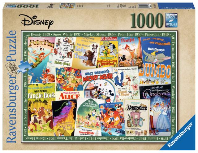 Ravensburger Puzzle - Disney Vintage Movie Posters - 1000 Pcs - 19874