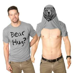 Creative-Funny-Printed-T-shirt-Double-sided-Animal-Head-Men-039-s-Short-Sleeved-n