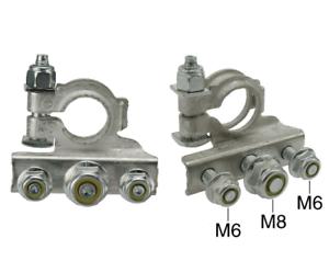 CARGO 2x BATTERY TERMINALS 3 BOLT CONNECTION DIAMETER 19mm+17mm 191821 192234