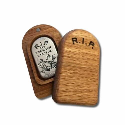 Just Released Limited Edition Unc. 2019 Skeleton Tombstone with Wooden Box