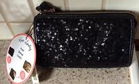 With Tags Kate Landry 2 In 1 Black Sequin/animal Print Clutch Purse