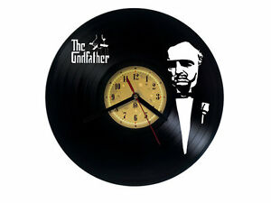 Vinyl record wall clock The Godfather design bedroom playroom office home art - WALLASEY, Merseyside, United Kingdom - Vinyl record wall clock The Godfather design bedroom playroom office home art - WALLASEY, Merseyside, United Kingdom