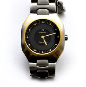 Omega-Seamaster-Polaris-steel-mans-039-32mm-quartz-watch-new-pristine-unworn