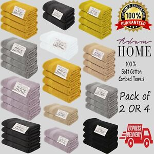 Ultra-Soft-600GSM-Combed-Cotton-Bath-Towels-Hand-Towels-Bath-Sheet-Pack-of-2-amp-4
