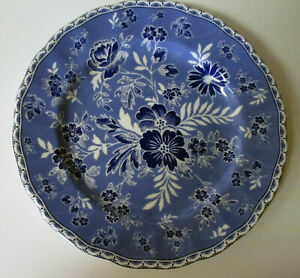 Johnson-Bros-Devon-Cottage-Blue-Floral-Salad-Plates-Set-of-Four-New