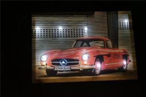 Mercedes-Benz-190-S-Rot-Oldtimer-LED-Leucht-bild-Beleuchtung-Wohnzimmer-0-3