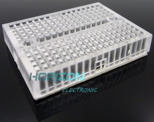10pcs Transparent Solderless Prototype Breadboard SYB-170 Mini Nickel Plating