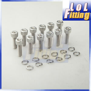 Details About Ls1 Header Bolts Stainless Steel For Lsx Ls2 Ls3 Ls6 Ls7 Gm Vortec 5 3 6 0 2l
