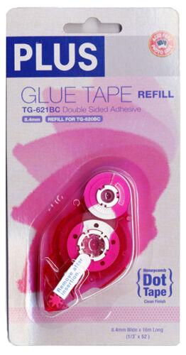 "PLUS Glue Tape Adhesive Honeycomb Dot REFILL Cartridge 1//3/"" x 52/' TG-621BC"