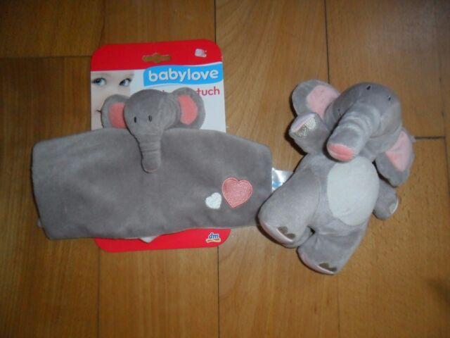 Spieluhr Elefant  babylove und Schmusetuch neu