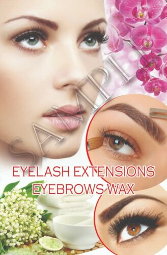 Eyelash Extensions Wax Salon Poster  Nail Salon Poster Beauty Wall Photo Decor