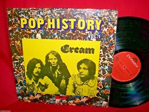 CREAM-Pop-History-Vol-1-Double-LP-1972-ITALY-G-f-EX-ERIC-CLAPTON