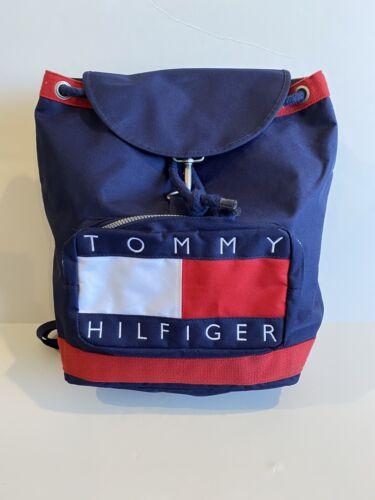 Tommy Hilfiger Drawstring Backpack Bag Big Flag Lo
