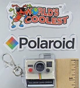 Worlds-Coolest-Smallest-POLAROID-LAND-CAMERA-Toy-Miniature-Mini-OneStep-Keychain