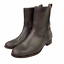 thumbnail 2 - Frye Cara Short Ankle Boot Bootie in Smoke Brown Leather Western Riding Size 9.5
